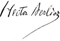 Hector Berlioz's signature