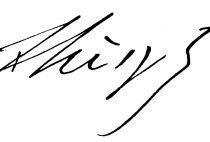 Signature by Franz Liszt