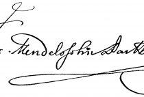 Signature by Felix Mendelssohn-Bartholdy
