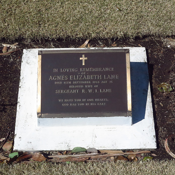 AGNES ELIZABETH LANE